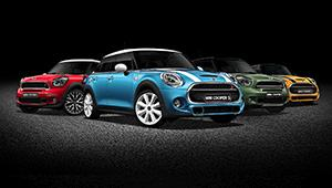 Mini models lined up.